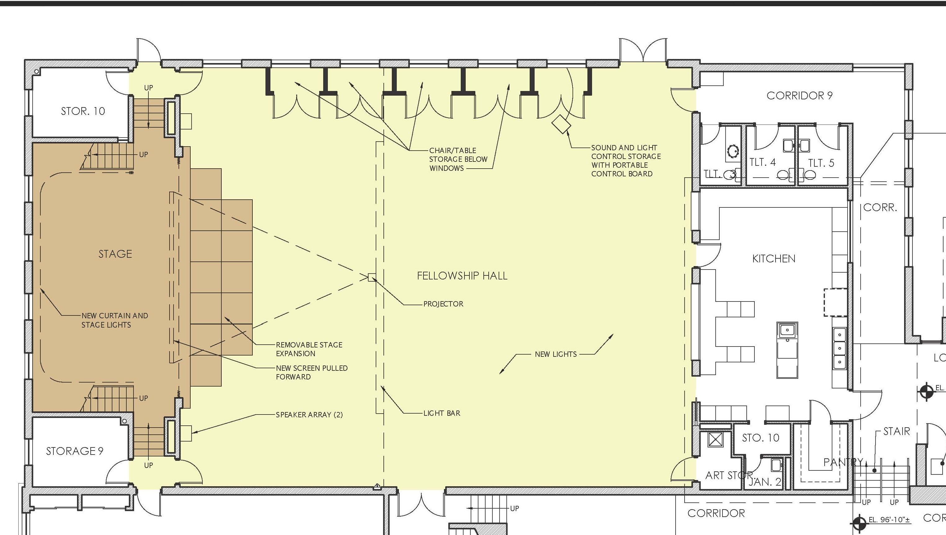 Proposed Changes To Fellowship Hall